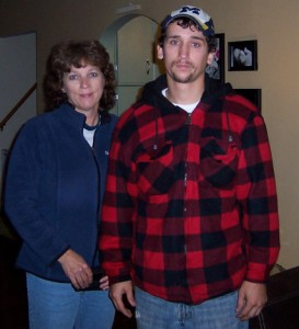 Joseph Chernach and his mother, Debra Pyka